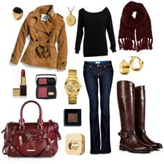 Fall excluding the gold jewelry and makeup i like the basic outfit