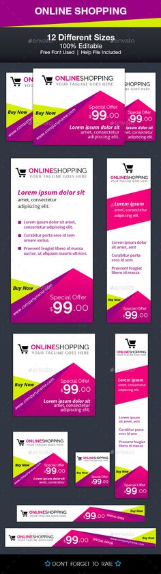 Online Shopping Ad Banners - Banners & Ads Web Template PSD. Download here: http://graphicriver.net/item/online-shopping-ad-banners/10069760?s_rank=1234&ref=yinkira