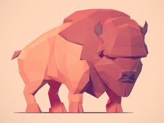 Low Poly Buffalo Mais