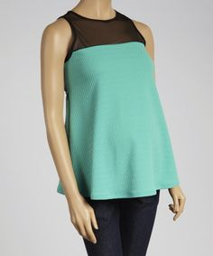 Loving this QT Jade Sheer Maternity Sleeveless Top on #zulily! #zulilyfinds