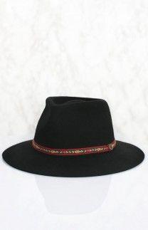 Fallen Broken Street The Dingo Hat - Flower Band Black | Beginning Boutique  #BBFEST #beginningboutique
