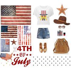 July 4th Emojis #lookbook #polyvore