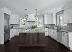 Kitchen Gallery – Galley Kitchen Design Ideas for your Remodel project - contact us online or visit a KSI Kitchen + Bath showroom throughout MI & OH! Grey Kitchens, Home Kitchens, Galley Kitchen Design, Open Kitchen, Kitchen And Bath Showroom, Oak Laminate Flooring, Kitchen Floor Plans, Kitchen Gallery, Transitional Kitchen