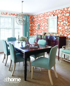 """Bold wallcovering by Alan Campbell from Quadrille. """"It's the wow factor"""" says designer Christina Murphy."""