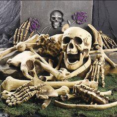 Halloween Pile 28 Human Bones Haunted Party House Show Gory Graveyard Display