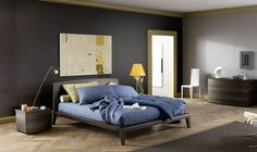 Wood Cloe bed frame, nightstand, and dresser in thermo oak finish | Kasala
