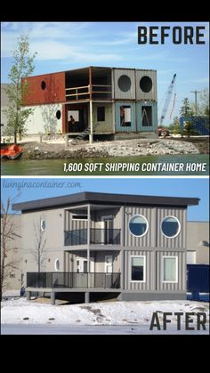 Tiny Container House, Building A Container Home, Container Buildings, Container Architecture, Metal Building Homes, Building A House, Shipping Container Home Designs, Shipping Containers, Casas Containers