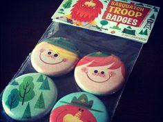 Sasquatch troop buttons