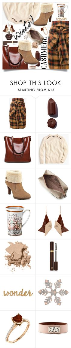 """""""Cozy Cashmere"""" by wuteringheights ❤ liked on Polyvore featuring Faith Connexion, J.Crew, Anne Klein, Anya Hindmarch, Versace, STELLA McCARTNEY, Bobbi Brown Cosmetics, Tom Ford, Givenchy and Christian Dior"""