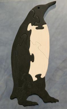 Wood Penguin Puzzle