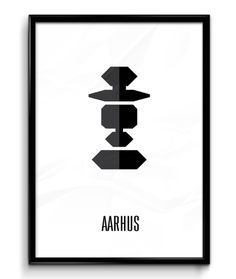 Aarhus Sort/Hvid ( A2 42x59,40 Cm )