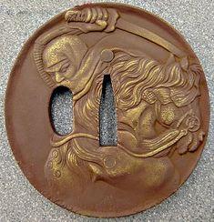 Shinobi tsuba - Modern mass produced thing, but i kinda like the motif and general style on it.