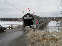 worlds longest covered bridge, Woodstock New Brunswick Worlds Longest Bridge, New Brunswick, My Town, The Province, Covered Bridges, Yearning, Woodstock, Ancestry, Places To Travel