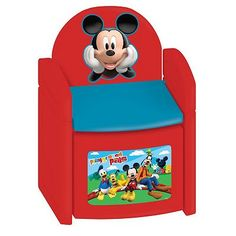 Disney Mickey Mouse & Friends Playground Pals Sit 'N' Store Chair by Kids Only