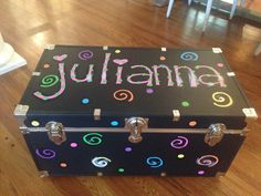 Julianna. Painted camp trunk