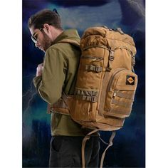39.26$  Buy now - http://alitqo.shopchina.info/go.php?t=32767982257 - Men's bag nylon waterproof travel backpack 50 litres large capacity military camouflage high-end women 17-inch laptop bag  #aliexpress