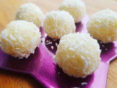 Rafaello AIP - biluțe de cocos fără zahăr - Mâncarea, bat-o vina Sweet Cakes, Fără Gluten, Paleo, Sweets, Sugar, Sweet Dreams, Sport, Candies, Diet