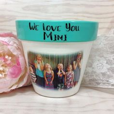 Personalized Flower Pots Grandma Gifts Present For Birthday Mothers Day Kitty Terracotta