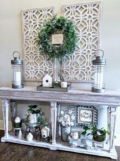 Rustic Decor, Farmhouse Decor, Living Room Decor, Christmas Decorations, Display, Farm House, Foyer, Decorating, Furniture