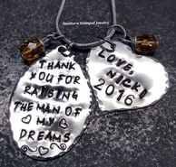 Shop our most popular Thank you for raising the man of my dreams collection by Southern Stamped Jewelry. They make the perfect gift! Grown Up Christmas List, Christmas Gifts, Christmas Ornaments, Mother In Law Gifts, Stamped Jewelry, Thank You Gifts, Customized Gifts, The Man, Make It Yourself