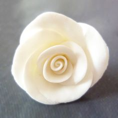 Cold porcelain rose tutorial.  Follow my photo tutorial for making rose beads out of air dry clay. The perfect bridal embellishment.