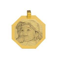 Presente para o Dia dos Pais - 09 de Agosto  Pingente de Ouro com foto gravada / Fotogravação 24.3mm x 24.3mm http://www.luxjoias.com/pingente-ouro-foto-c-121_192.html
