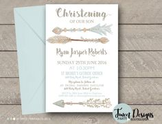 We have a beautiful range of Christening invitations and Baptism Invitations that have been designed specifically to invite all your family and friends to help celebrate this special occasion with you. All our Christening invitations can be personalized t Baptism Invitation For Boys, Christening Invitations Boy, Party Invitations Kids, Boy Christening, Baby Shower Invitations, Wedding Invitations, Party Printables, Event Planning, Stationery