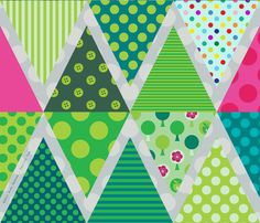 Festive Fun Bunting fabric by spellstone on Spoonflower - custom fabric