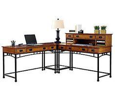 Home Styles Modern Craftsman Corner Desk
