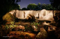 Spring Lake Falls at Night | San Marcos, TX