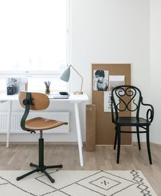 home office. Interior design by Minna Jones, photography by Pauliina Salonen