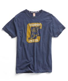 Mast Blue Athletics Crew T-Shirt by Todd Snyder