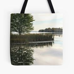 Bay Watch / Tote Bag Featuring Serene Early Evening Waterscape Scene in Autumn by PhotoClique on Etsy