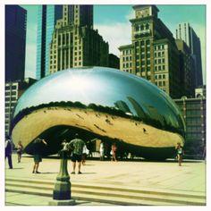 """Cloud gate Chicago aka """"the bean"""""""