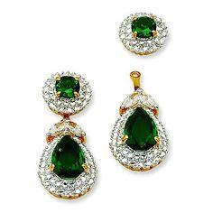 Jacqueline Kennedy First Lady Emerald Earrings Camrose Kross JFK Swarovski | eBay