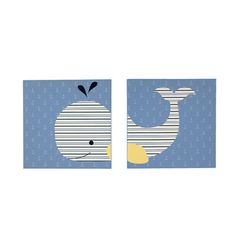 Nautica Kids - Brody - 2Pc Canvas Art - Whale Print