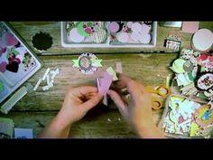 DIY PAPER EMBELLISHMENTS (embellished envelope at end of video +) - YouTube - Sannie Annie Crafts