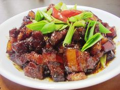 Shaoxing wine Pork garlic recipes, practice | old lady happy kitchen cook a lot of recipes to share