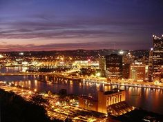 Pittsburgh-Looks much prettier at night...I was not a huge fan, but I have been here!!