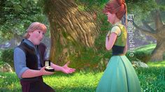 Kristoff: thought it was worth a shot. Will you marry me? Anna: oh Kristoff! Of course I'll marry you!