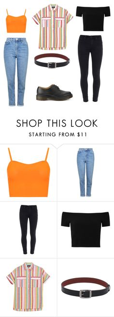"""Outfit idea"" by haawnah on Polyvore featuring WearAll, Topshop, Paige Denim, Alice + Olivia, J.Crew and Dr. Martens"