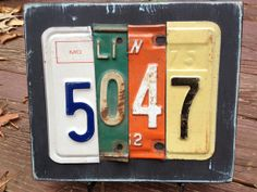 House+Number+License+Plate+Sign++Custom+by+Replated+on+Etsy,+$40.00