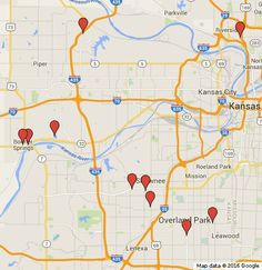 Heres a map for Kansas Citys First Friday Weekends antique