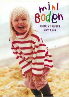 Catalogue cover, Mini Boden Winter 1998