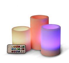 Angelica Blueeco, candele di cera a led con telecomando con 12 colori, puoi acquistarle nello shop-online http://www.blueeco.it/products-page/candele-led/angelica/  led light candles multicolor