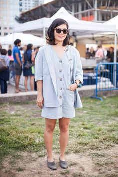 10 Killer Fall Outfits Found At The Flea Market #refinery29  http://www.refinery29.com/brooklyn-flea-street-style#slide-1  You can still get away with some bare extremities during the last leg (see what we did there?) of warm fall weather — especially when you double up with a coordinating jacket....