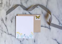 floral stationery // personalized stationery from Lou & Letter Paper Co.