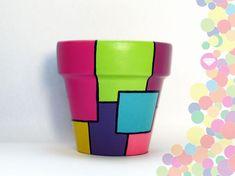 Ideas, pintura a mano. Flower Pot Crafts, Clay Pot Crafts, Diy Crafts, Painted Plant Pots, Painted Flower Pots, Pots D'argile, Clay Pots, Decorated Flower Pots, Pottery Painting Designs