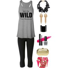 """""""Let's Get Wild from Bridal Party Tees"""" by bridalpartytees on Polyvore #bachelorette #bacheloretteparty"""