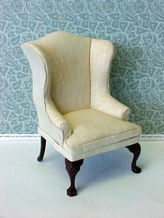 Nice wing chair.